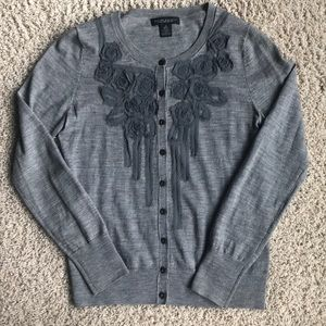 Grey banana republic cardigan. Dry clean only.